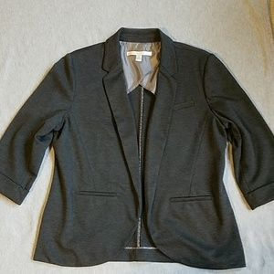 Gray Lauren Conrad blazer jacket.